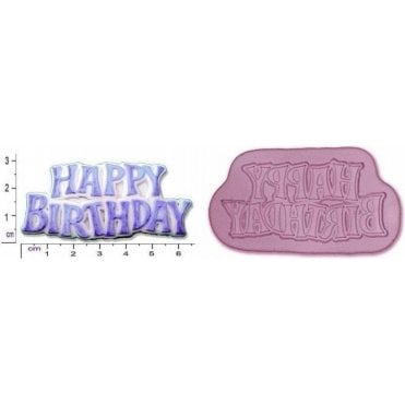 Small Happy Birthday Plaque - Cake Decorating Silicone Mould