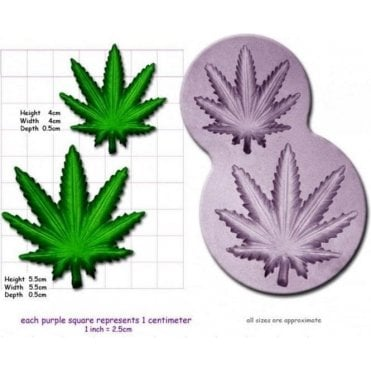Small & Medium Cannabis/Hash Leaf - Cake Decorating Silicone Mould