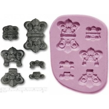 Small & Medium Steampunk Hinges - Cake Decorating Silicone Mould
