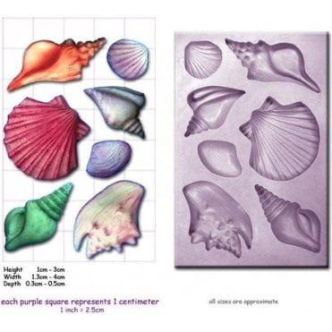 Small Sea Shells - Cake Decorating Silicone Mould
