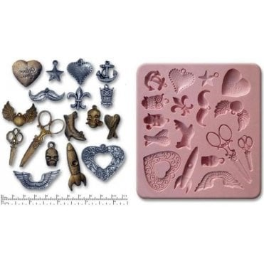 Steampunk Charms - Cake Decorating Silicone Mould