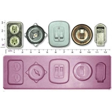 Steampunk Switches - Cake Decorating Silicone Mould