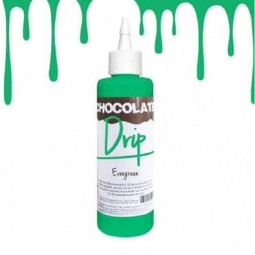 CHOCOLATE DRIP EVERGREEN Professional Choc Icing For Drip Cakes - 250g