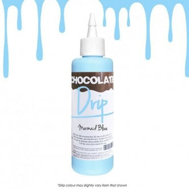 MERMAID BLUE 'Absolutely Delicious' Chocolate Icing For Drip Cakes 250g