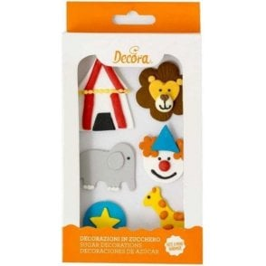 Circus Sugar Royal Icing Decorations  - 6 Count
