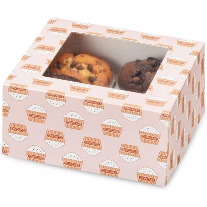 Club Green Cupcake Box with Window & Insert - Holds 4