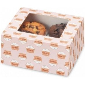 Cupcake Box with Window & Insert - Holds 4