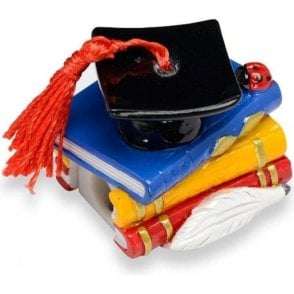 Graduation Resin Book/Graduation Hat Cake Figurine/Topper & Sharpner
