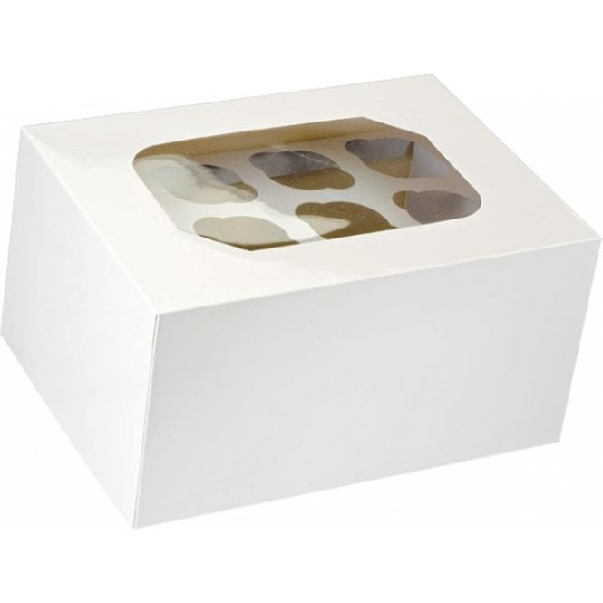 "Club Green White Satin ""double-decker"" Cupcake Box with Window - Holds 24 Cupcakes"
