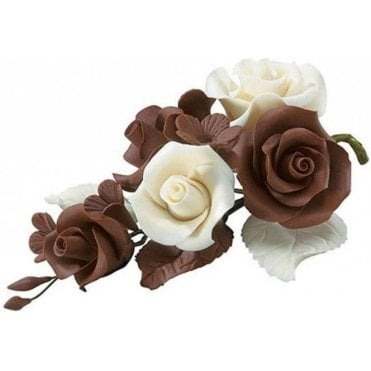 "4.5"" Handmade Chocolate Rose Spray"