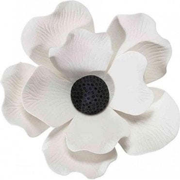 "4"" White Gumpaste/Sugar Flower Handmade Poppy"