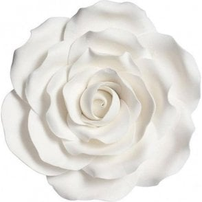 "4"" White Gumpaste/Sugar Flower Handmade Rose"