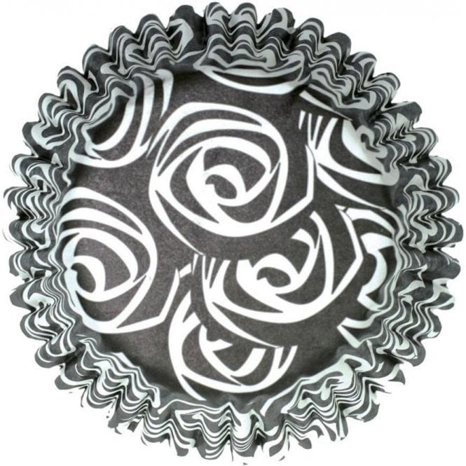 Culpitt Black Roses Baking Cupcake Case - Pack of 54