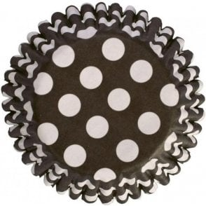 Black Spot Baking Cupcake Case - Pack of 54
