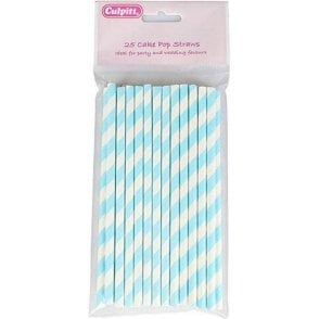 Blue Candy Stripe Cake Pop Sticks - Pack of 25