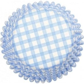 Blue Gingham Baking Cupcake Case - Pack of 54