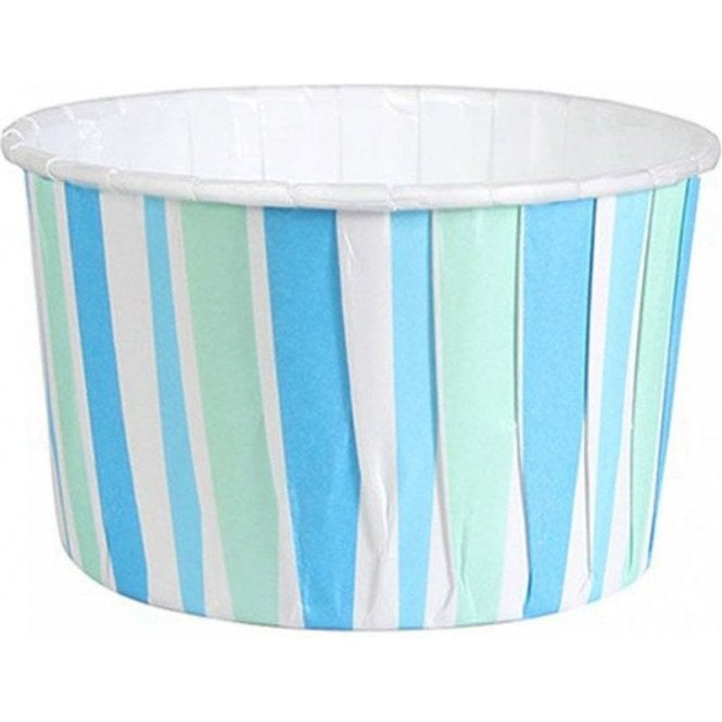 Culpitt Blue Stripes Baking Cups / Cupcake Cases - 24 per pack