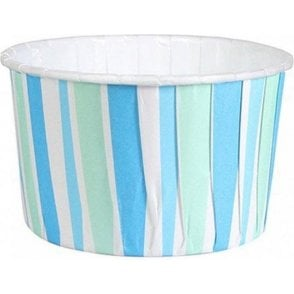 Blue Stripes Baking Cups / Cupcake Cases - 24 per pack