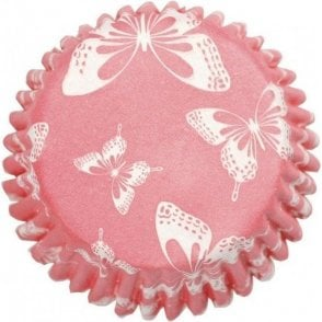 Blush Butterfly Baking Cupcake Case - Pack of 54