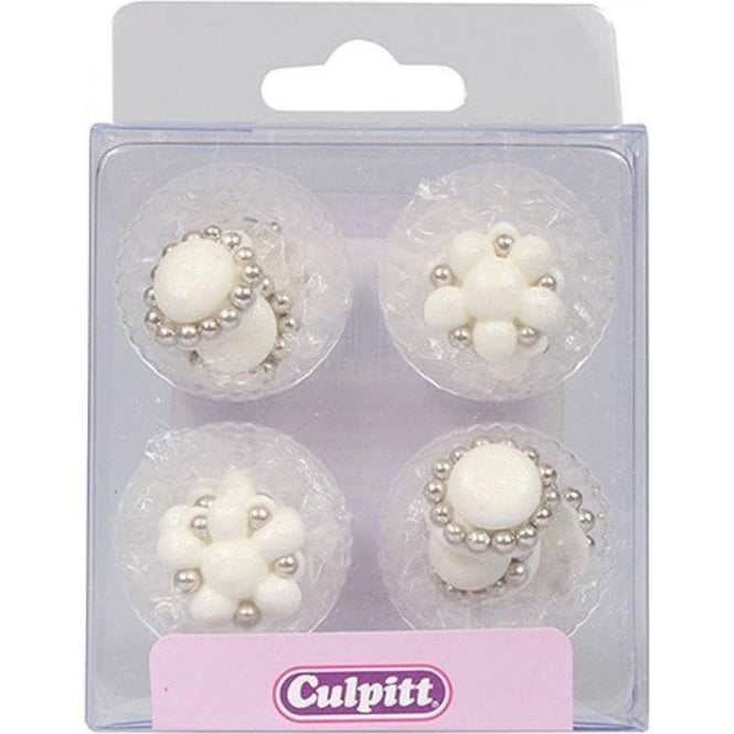Culpitt Brooches Sugar Pipings Edible Decoration - Pack of 12