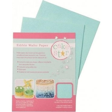 Cake Star Blue Wafer Paper - 12 sheets per Pack