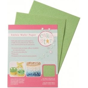 Cake Star Green Wafer Paper - 12 sheets per Pack