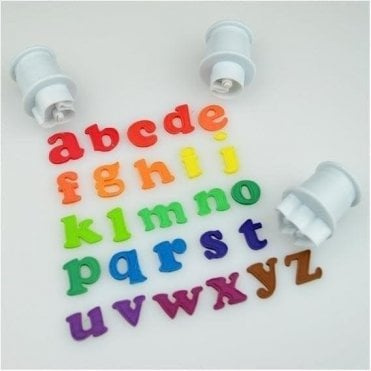 Cake Star Mini Push Easy Alphabet Cutters - Lowercase - Set of 26