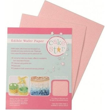 Cake Star Pink Wafer Paper - 12 sheets per Pack