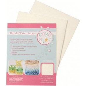 Cake Star White Wafer Paper - 12 sheets per Pack
