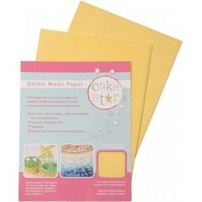 Cake Star Yellow Wafer Paper - 12 sheets per Pack