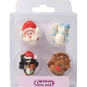 Christmas Friends Sugar Pipings - 12 pieces