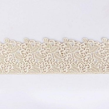 Edible Floral Cake Lace - Pearl