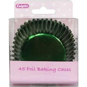 Green Metallic Foil Baking Cupcake Case - Pack of 45