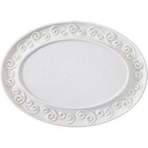 Gumpaste Scroll Plaque - White