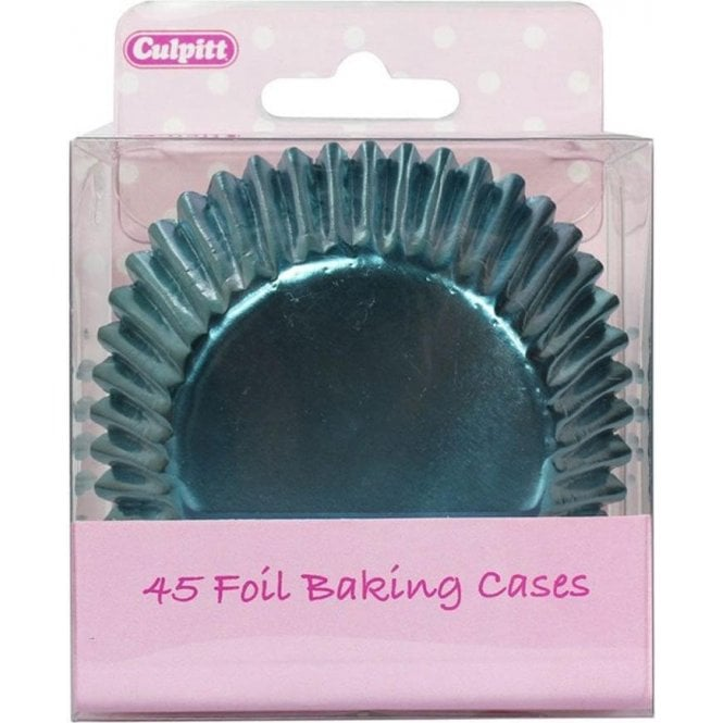 Culpitt Ice Blue Metallic Foil Baking Cupcake Case - Pack of 45