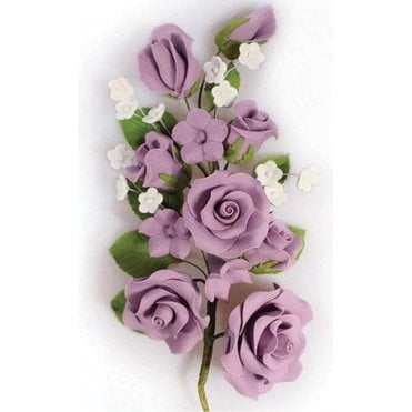 Lilac Rose Spray - Handmade Gumpaste/Sugar Flower 170mm