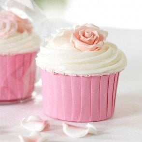 Pink Baking Cups / Cupcake Cases - 24 per pack