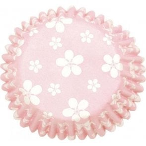 Pink Blossom Baking Cupcake Case - Pack of 54