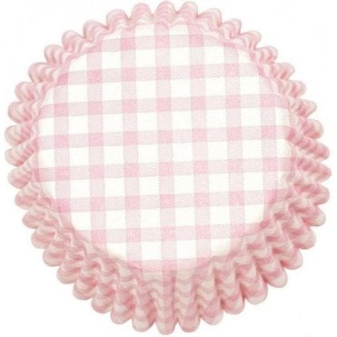 Pink Gingham Baking Cupcake Case - Pack of 54