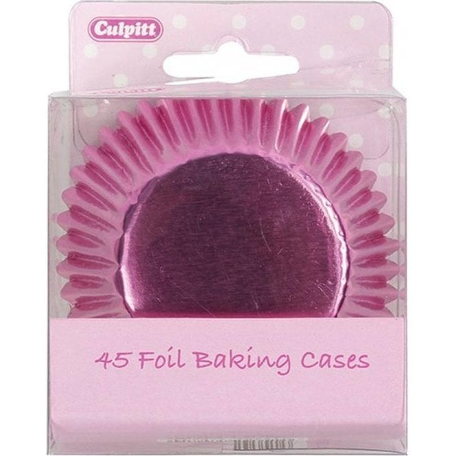 Culpitt Pink Metallic Foil Baking Cupcake Case - Pack of 45