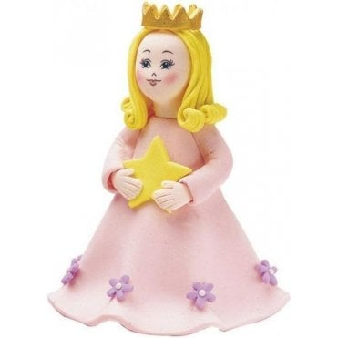Pink Princess Clay-dough Cake Topper