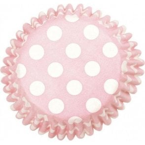 Pink Spot Baking Cupcake Case - Pack of 54