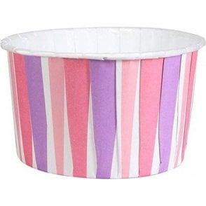 Pink Stripes Baking Cups / Cupcake Cases - 24 per pack