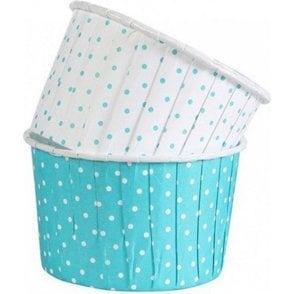 Polka Dot Teal Baking Cups / Cupcake Cases - 24 per pack