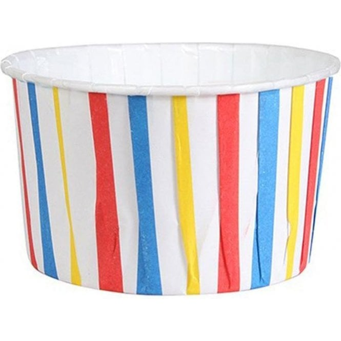 Culpitt Primary Colour Stripes Baking Cups / Cupcake Cases - 24 per pack