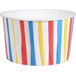 Primary Colour Stripes Baking Cups / Cupcake Cases - 24 per pack