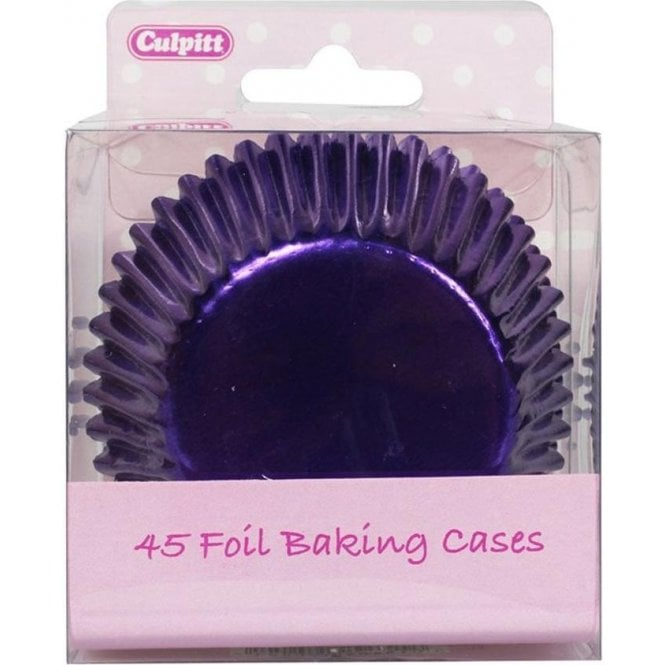 Culpitt Purple Metallic Foil Baking Cupcake Case - Pack of 45