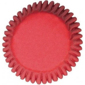 Red Baking Cupcake Case - Pack of 50
