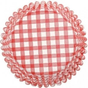 Red Gingham Baking Cupcake Case - Pack of 54
