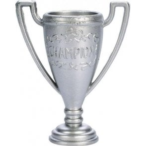 Silver Coloured Plastic Trophy